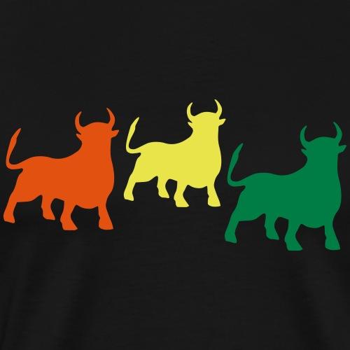 Stier Tricolore - Männer Premium T-Shirt