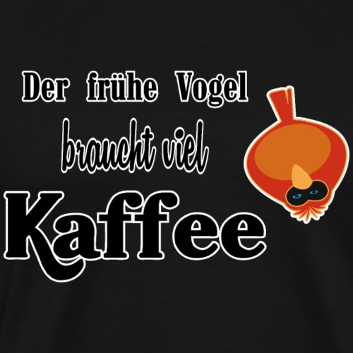 kaffeeVogel.png - Männer Premium T-Shirt