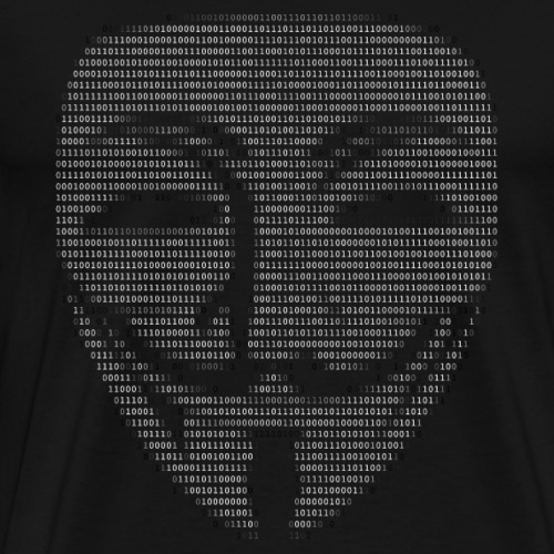 Guy Fawkes Mask Binary - Men's Premium T-Shirt