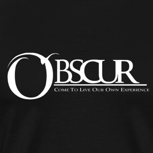 Grand logo Obscur - T-shirt Premium Homme