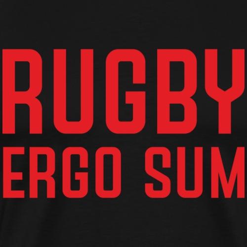 Marplo RugbyergosUM RED - Maglietta Premium da uomo