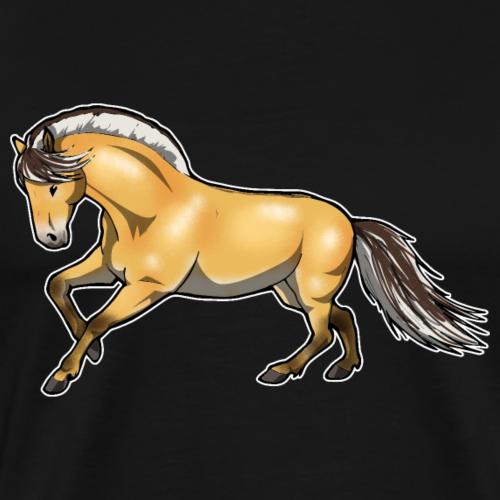 Fjordpferd Norweger Farbe Pony Pferd Geschenk - Männer Premium T-Shirt