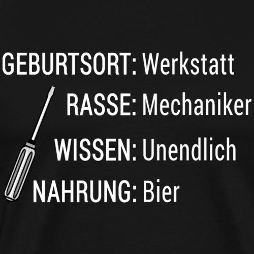 Werkstatt Mechaniker Bier Shirt Geschenk - Männer Premium T-Shirt