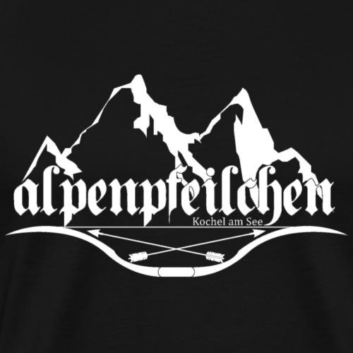 Alpenpfeilchen - Logo - white - Männer Premium T-Shirt