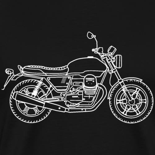 Moto Guzzi v7 III Milan - T-shirt Premium Homme