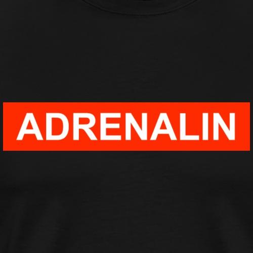 Adrenalin-roter Balken - Männer Premium T-Shirt