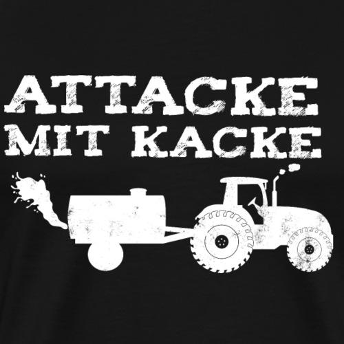 Attacke mit Kacke lustig Spruch Geschenk Landwirt