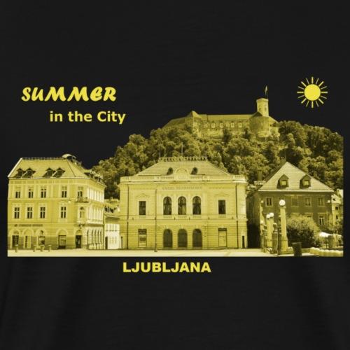 Sommer Ljubljana Slowenien Hauptstadt City Burg - Männer Premium T-Shirt