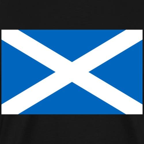 schottische Flagge - St Andrews Cross - Schottland - Männer Premium T-Shirt