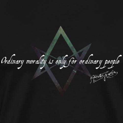 Green Thelema Hexagram with quote - Men's Premium T-Shirt