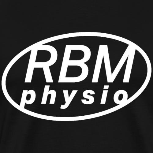 rbm physio logo white - Premium-T-shirt herr