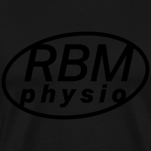 rbm physio logo black - Premium-T-shirt herr
