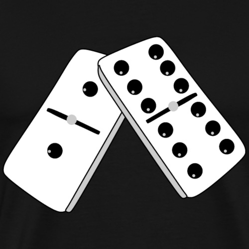 Domino Game shirts creative card/Playing Cards - Camiseta premium hombre