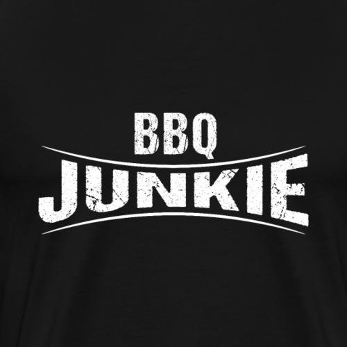 BBQ Junkie Logo Badge - Männer Premium T-Shirt