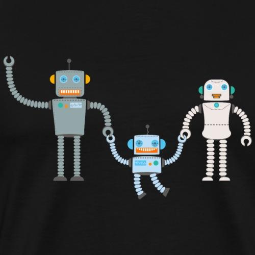 Roboter Familie, Vater Mutter Kind - Männer Premium T-Shirt