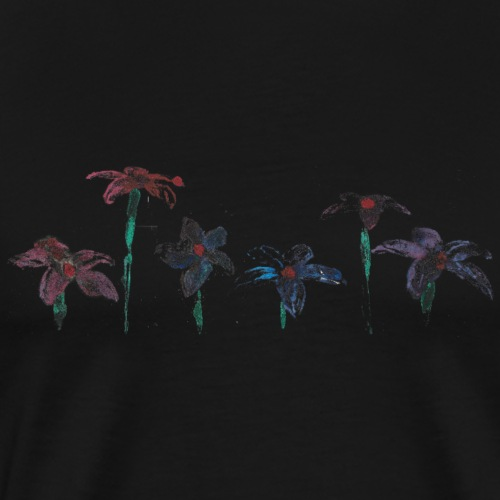 flores oleo - Camiseta premium hombre