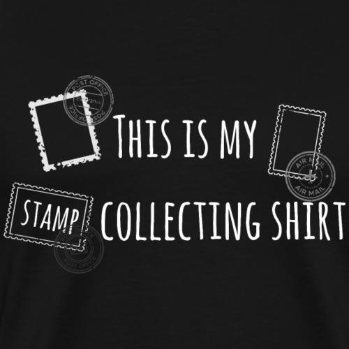 Briefmarken sammeln Stamps Shirt Geschenk - Männer Premium T-Shirt