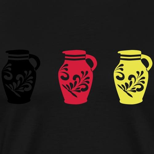 Bembel Schwarz Rot Gold - Männer Premium T-Shirt