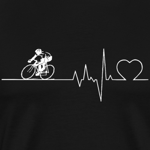 Herzschlag Heartbeat Fahrrad Rennrad Geschenk - Männer Premium T-Shirt
