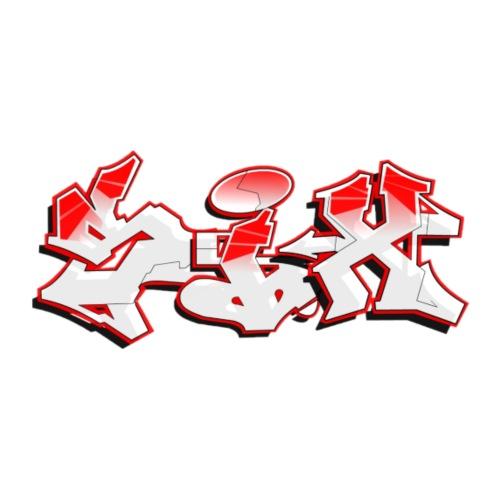 six red graffiti - Men's Premium T-Shirt
