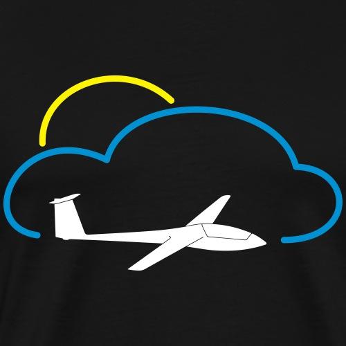 Segelflugzeug Wolke Sonne gleiten Geschenk Pilot - Männer Premium T-Shirt