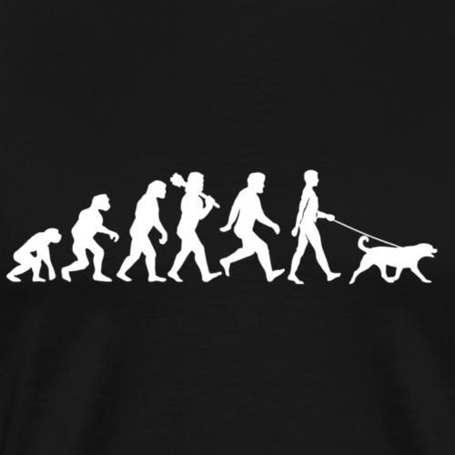 Evolution with dog - Mannen Premium T-shirt