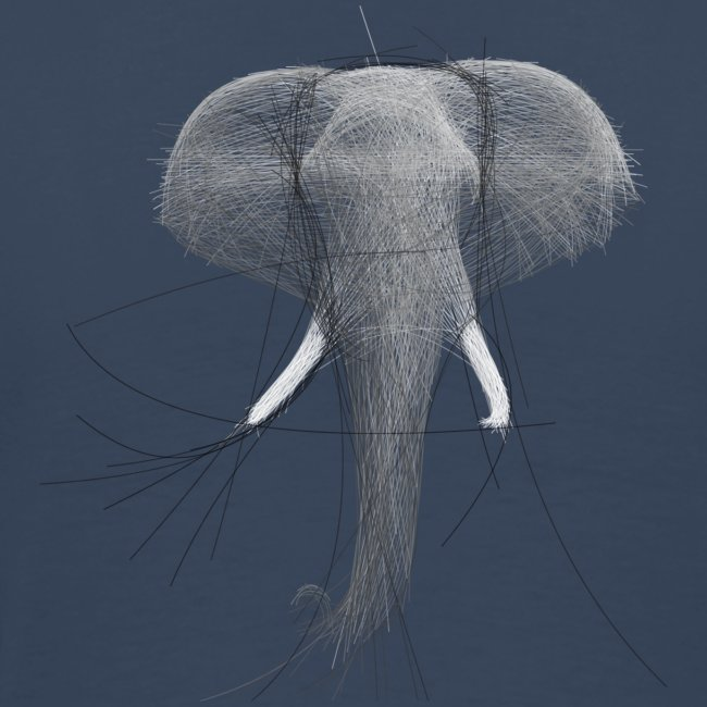 Bezier Elephant, by Hoa