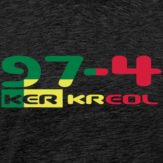 Logo 974 ker kreol VJR, rastafari