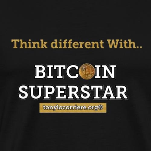 Think different with bitcoin - Maglietta Premium da uomo