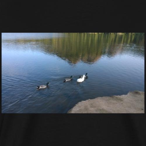 anatre e oche del Lago di Poggio dei Pini Cagliari - Maglietta Premium da uomo