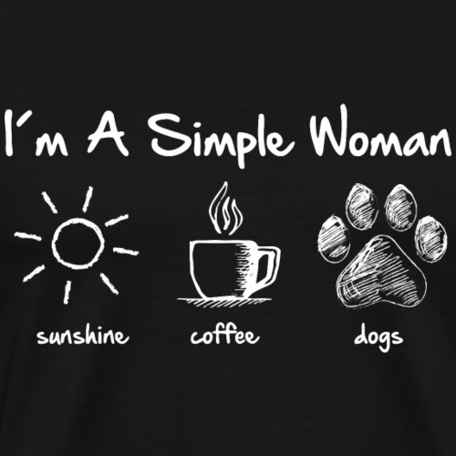 simple woman dog white - Men's Premium T-Shirt
