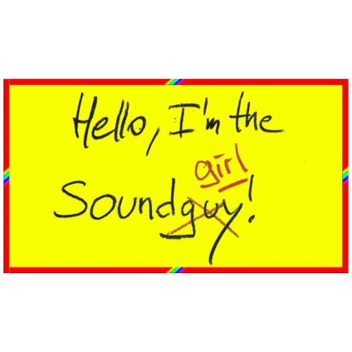 hello, I am the sound girl - yellow sign - Men's Premium T-Shirt