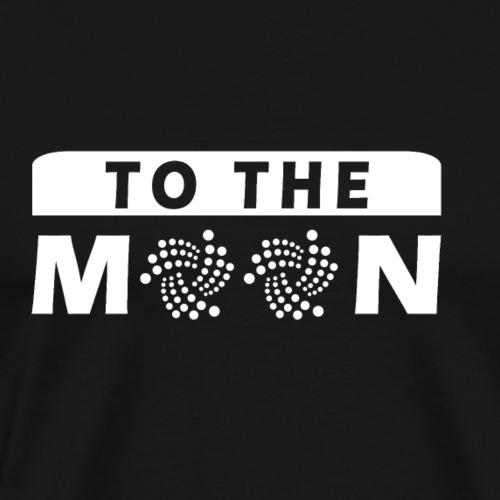 IOTA LOGO Shirt Geschenk - To The MOON - Männer Premium T-Shirt
