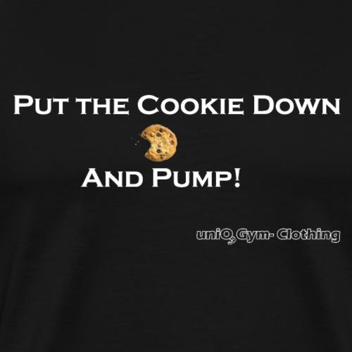 cookie white png - Männer Premium T-Shirt