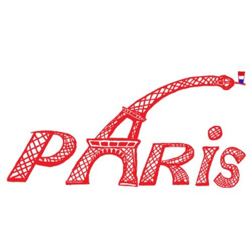 Paris rouge - T-shirt Premium Homme