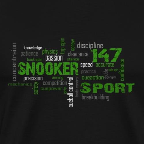 snooker word cloud - Männer Premium T-Shirt