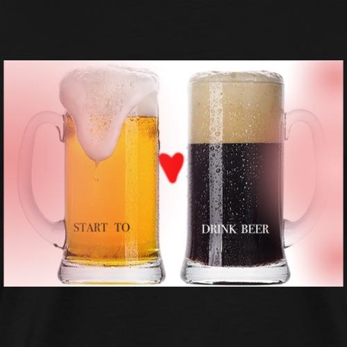 birra-bere - Maglietta Premium da uomo