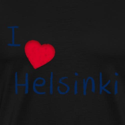 I Love Helsinki - Miesten premium t-paita