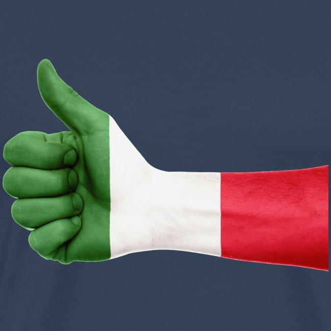 Italienische Flagge auf Daum