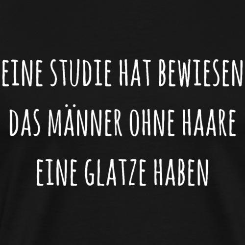 Lustiger Spruch Glatze Haarlos - Männer Premium T-Shirt