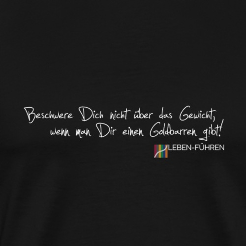 Beschwerde über Goldbarren - Männer Premium T-Shirt