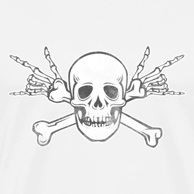 Skull with ILY Vintage