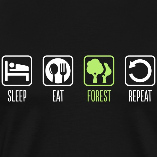 Sleep Eat Forest Repeat - Männer Premium T-Shirt