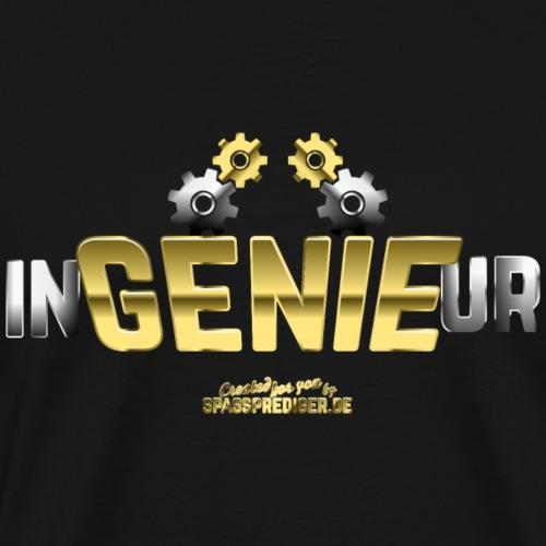 Ingenieur T-Shirt Genie in Metall-Optik - Männer Premium T-Shirt