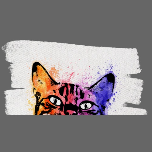 Katze Aquarell auf Leinwand - Männer Premium T-Shirt