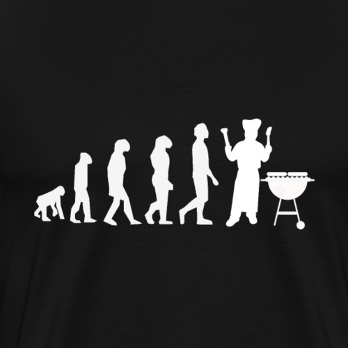 Evolution Of Grilling Barbque BBQ - Männer Premium T-Shirt