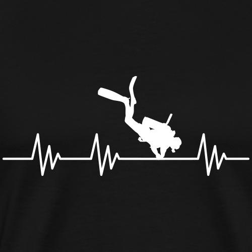 Puls Herzschlag Tauchen Vektor - Männer Premium T-Shirt