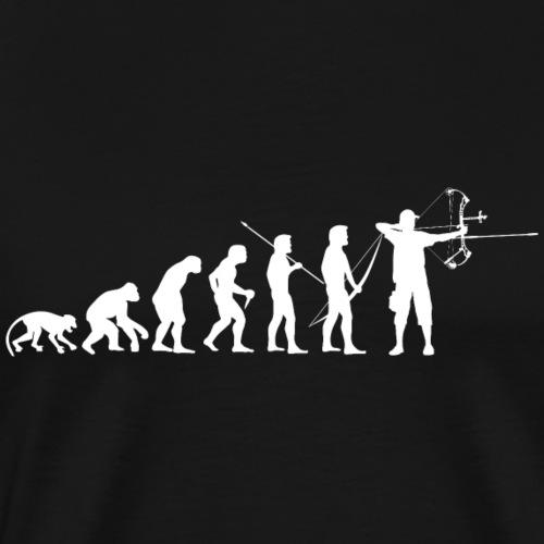 ArcLab CompoundArcherEvolution-White - T-shirt Premium Homme