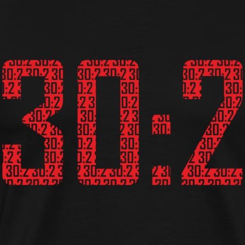 30:2 (czerwony) - Koszulka męska Premium
