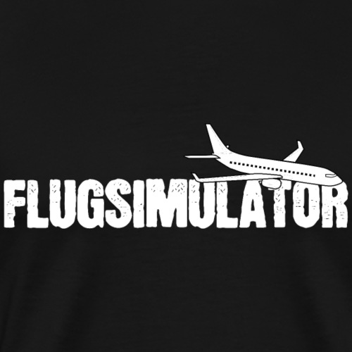 Flugsimulator Flugzeug Pilot Modellbau Shirt Gesch - Männer Premium T-Shirt